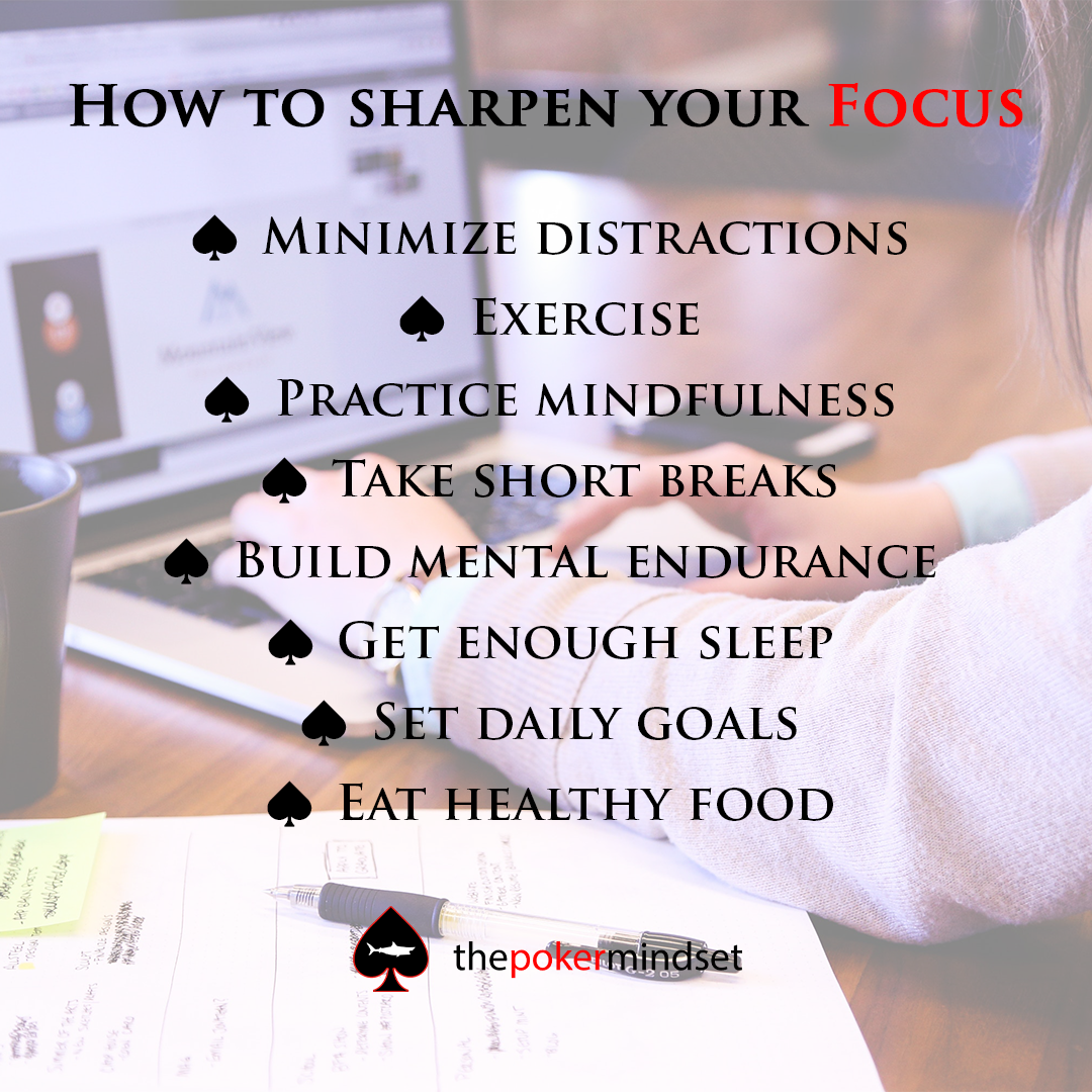 How to sharpen your focus